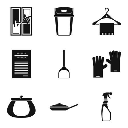 House rest icons set, simple style vector illustration.