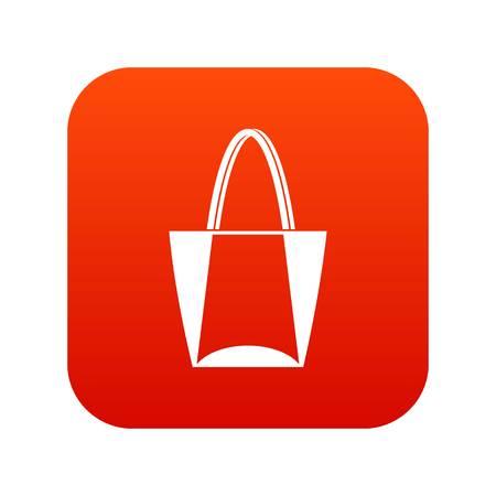 Big bag icon digital red