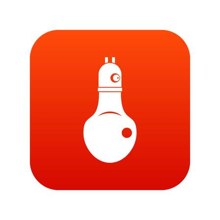 Lamp icon digital red for any design isolated on white vector illustration