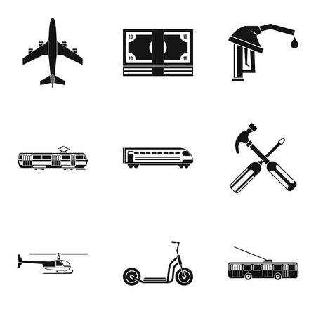 New vehicles icons set. Simple set of 9 new vehicles vector icons for web isolated on white background
