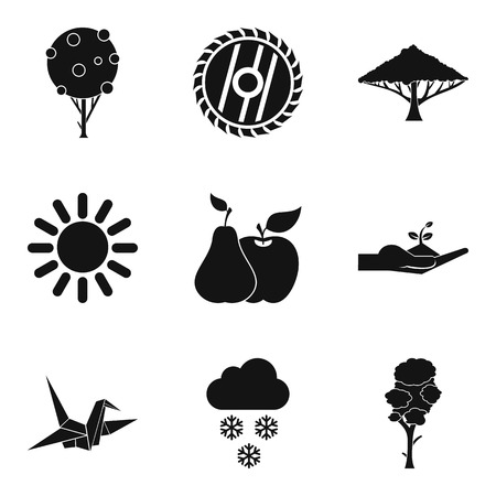 Greening of the planet icons set. Simple set of 9 greening of the planet vector icons for web isolated on white background 向量圖像