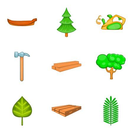 Greening of the world icons set. Cartoon set of 9 greening of the world vector icons for web isolated on white background