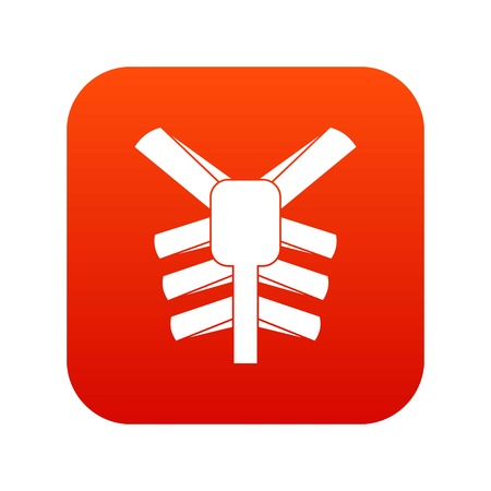 Human thorax icon digital red for any design isolated on white vector illustration Ilustração
