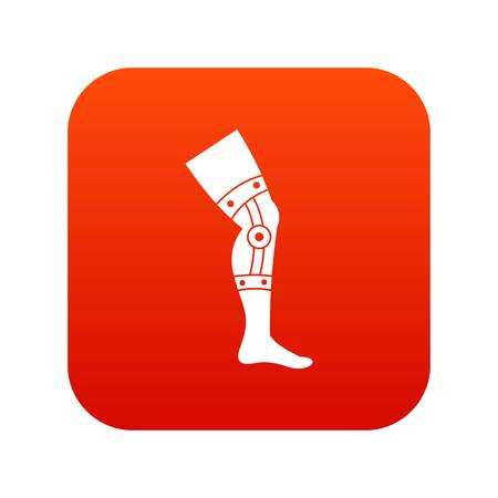 Retentive bandage icon digital red for any design isolated on white vector illustration