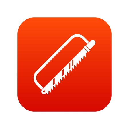 Surgical saw icon digital red Vector illustration. 向量圖像
