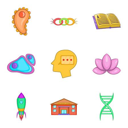 Intellect icons set, cartoon style Vector illustration. Illustration