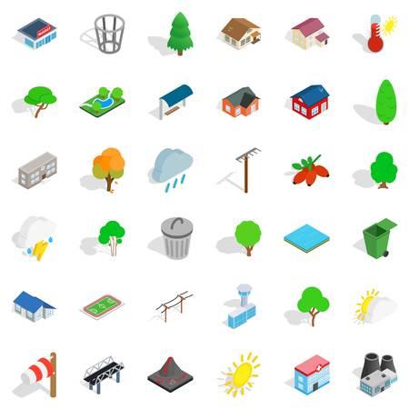 Ecology icons set, isometric style Vector illustration. 向量圖像