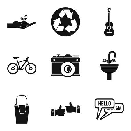 Human diversity icons set, simple style Vector illustration.