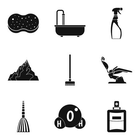 Body care icons set, simple style Ilustração