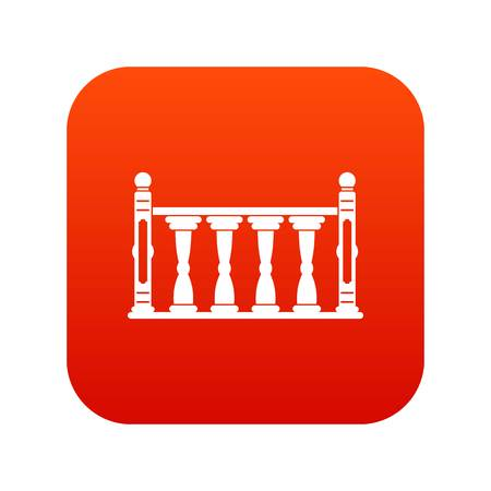 Balustrade icon digital red
