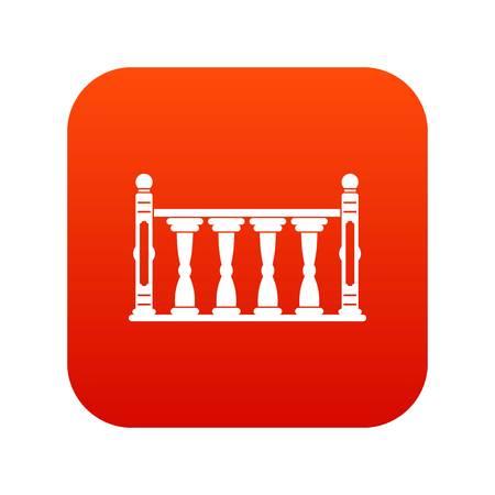 Balustrade icon digital red