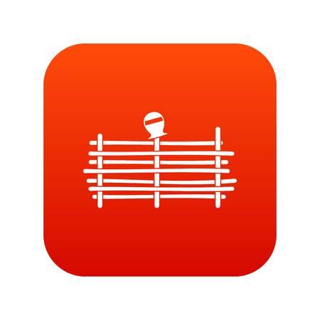 Palisade icon digital red Illustration