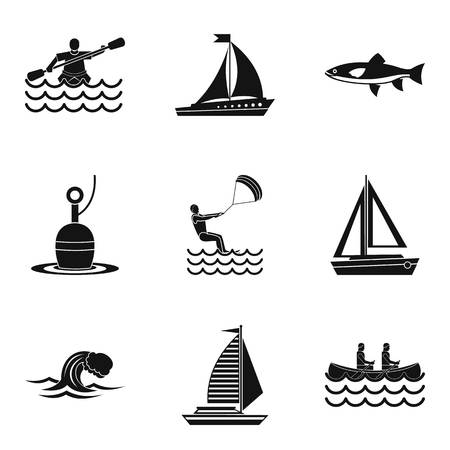State of water icons set