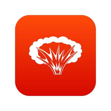 Icône d'explosion anatomique sur rouge numérique Vecteurs