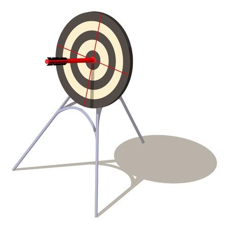 Perfection target icon, isometric style. Ilustracje wektorowe