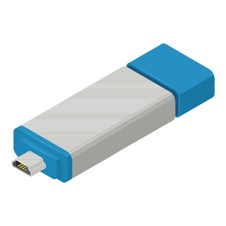 USB icon, isometric style
