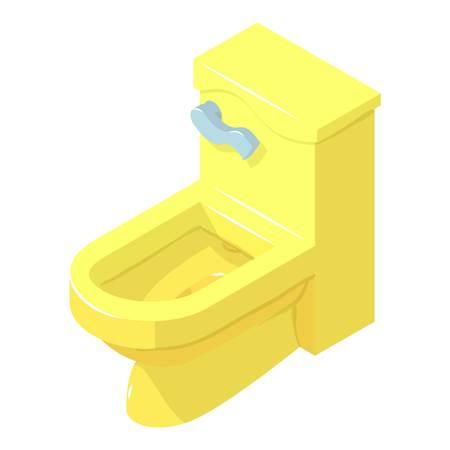 Toilet icon, isometric style Illustration