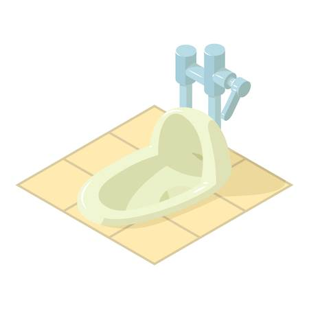 Isometric illustration of wc vector icon for web.