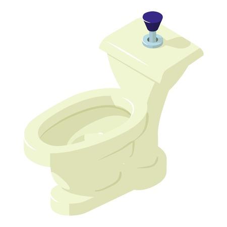 Comfort toilet icon, isometric style