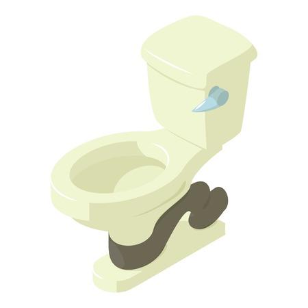 Ceramic toilet icon, isometric style icon, isometric style Stock Vector - 97037609