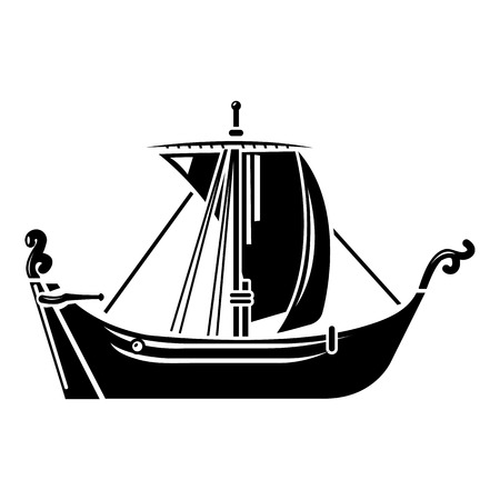 Pirate ship icon, simple style