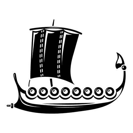 Galleon icon, simple style Stock Vector - 97037814