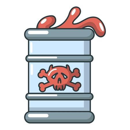 Barrel icon, cartoon style