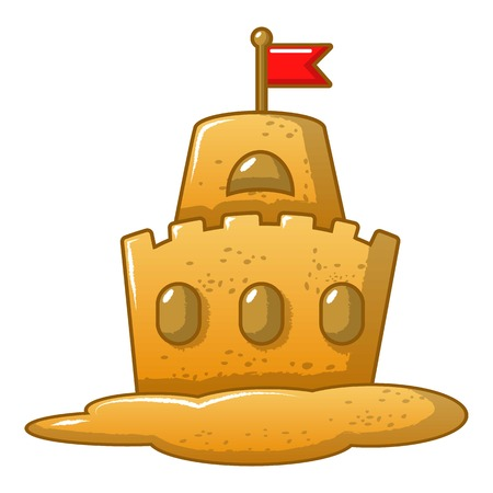Sand fantasy icon, cartoon style