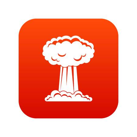 Mushroom cloud icon digital red for any design isolated on white vector illustration 向量圖像