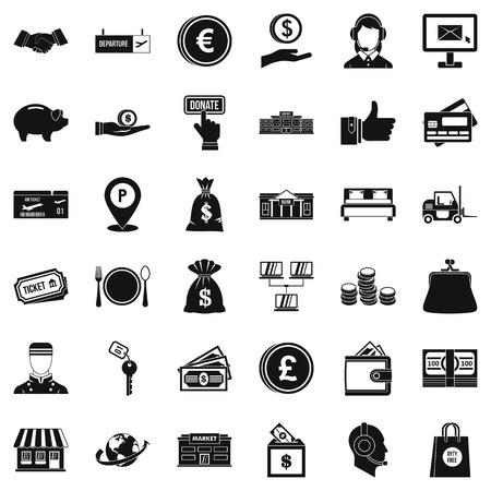 Money motivation icons set. Simple set of 36 money motivation vector icons for web isolated on white background