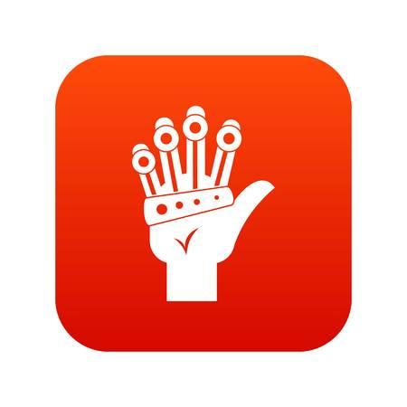 Vr manipulator icon digital red