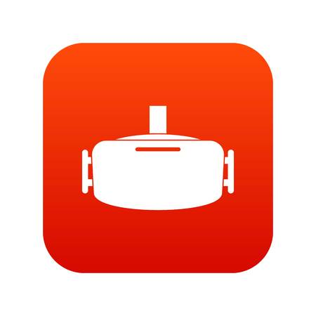 Vr device icon digital red for any design isolated on white vector illustration
