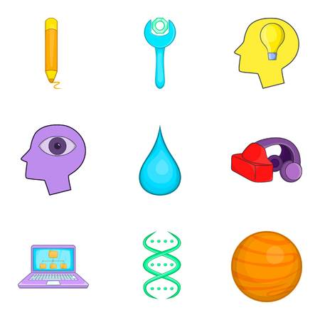 Scheme icons set. Cartoon set of 9 scheme vector icons for web isolated on white background