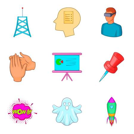 Fraud icons set. Cartoon set of 9 fraud vector icons for web isolated on white background Illustration