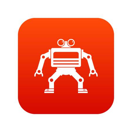 Machine icon digital red for any design isolated on white vector illustration Illustration