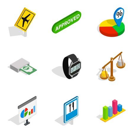Specify icons set, isometric style