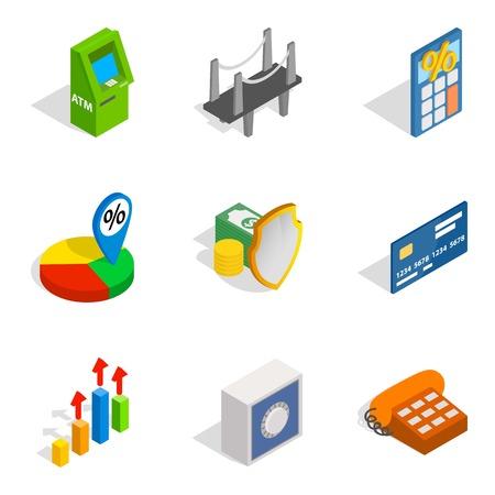 Entrepreneur icons set. Isometric set of 9 entrepreneur vector icons for web isolated on white background