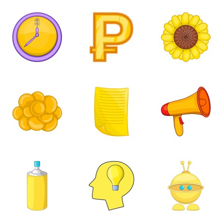 Possibility of money icons set vector illustration