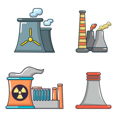 Image de dessin animé image illustration de centrale électrique
