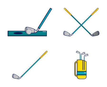 Golf stick icon image illustration Illustration