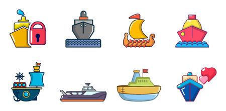 Ship icon set image illustration Illustration