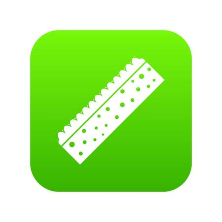 Sponge for cleaning icon digital green Illustration