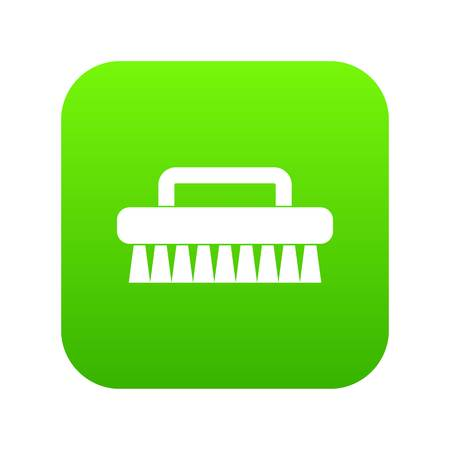 Cleaning brush icon digital green