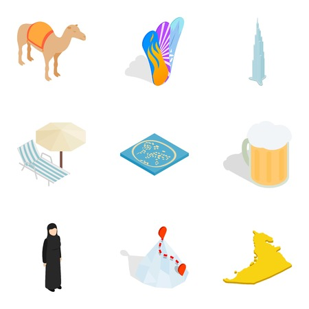 Anticipated icons set, isometric style