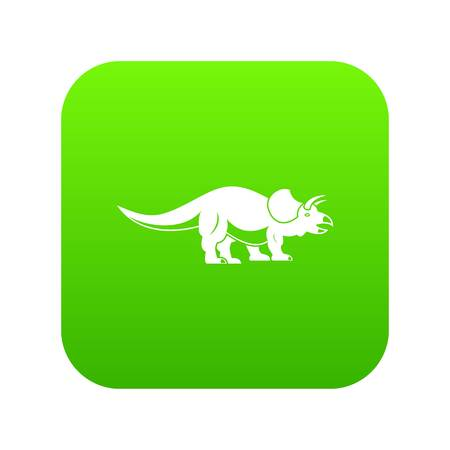 Styracosaurus icon digital green Illustration