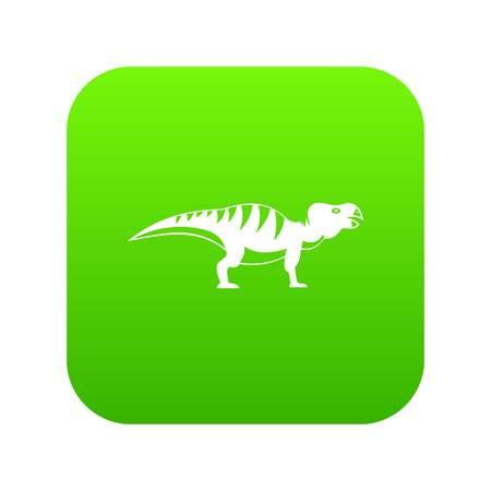 Hadrosaurid dinosaur icon digital green 向量圖像
