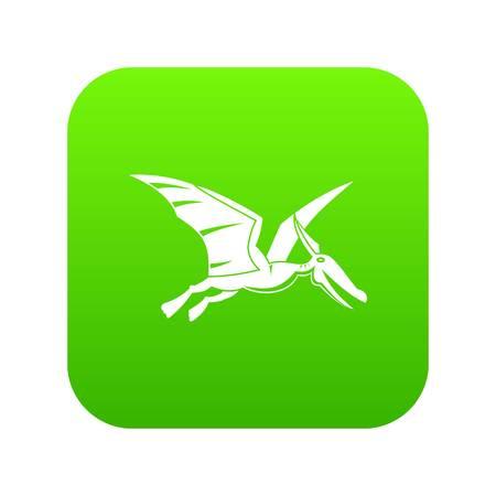 Pterosaurs dinosaur icon digital green