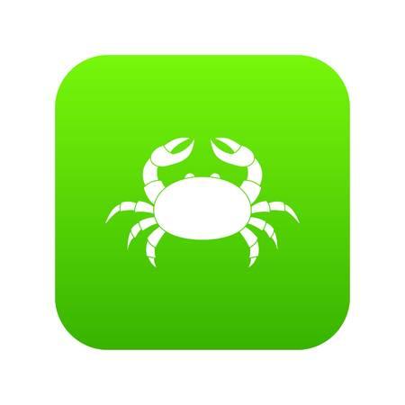 Raw crab icon digital green vector illustration