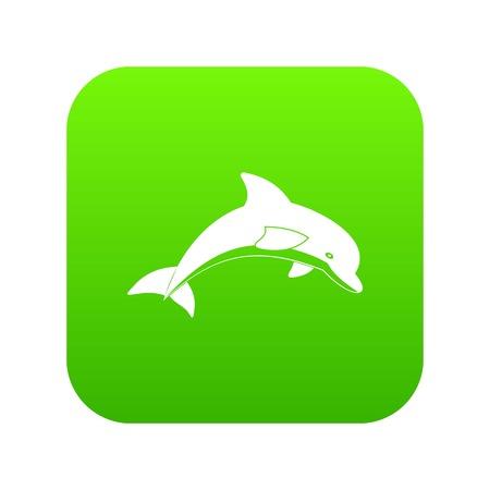 Jumping dolphin icon Illustration