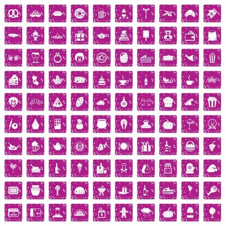 100 bounty icons set vector illustration Illustration